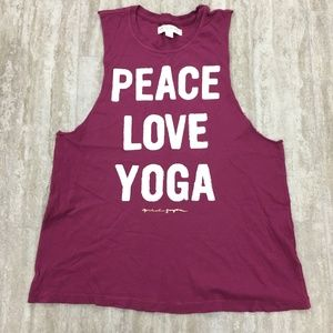 Spiritual Gangster Peace Love Yoga Tank Size:Large